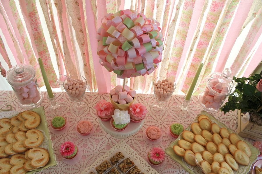 Tea party on a Budget - Table Centerpieces