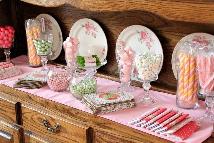My Cup Runneth Over - A Tea Party On A Budget - Candy Bar