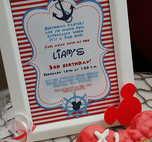 Nautical Mickey Mouse Party | Part 1
