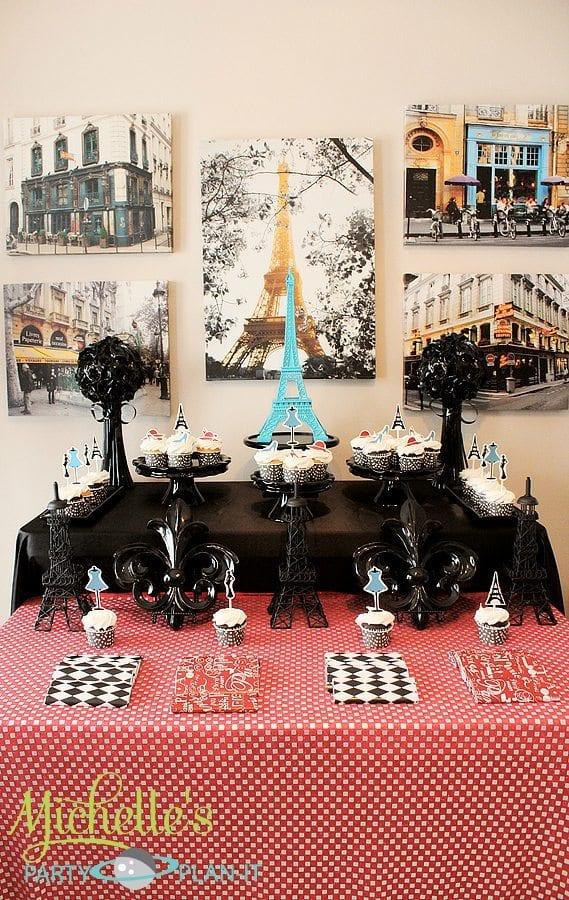 """A Day in Paris"" Dessert Table | Parisian Party Ideas"