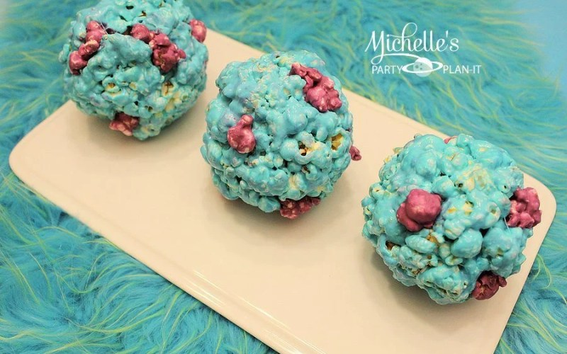 Sulley Inspired Popcorn Balls