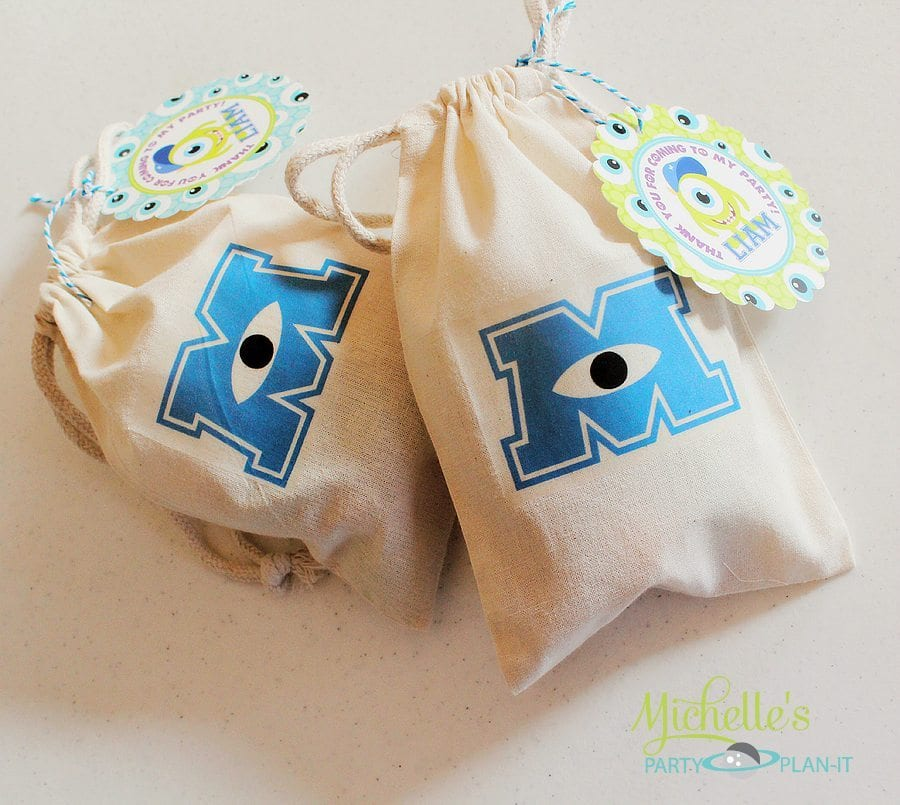 DIY Monsters University Inspired Party Favor Bags