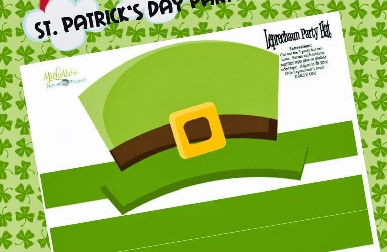 Freebie – DIY St. Patrick's Day Party Hats