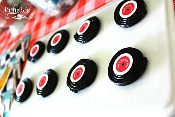 Retro Diner Party Treats with Free Printable