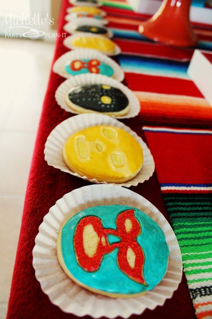 Nacho Libre Party - Luche Libre Cookies