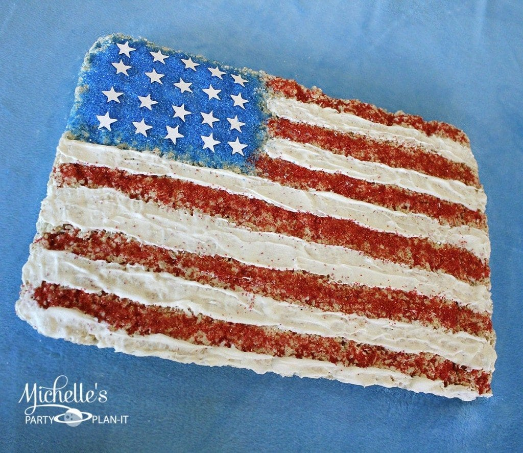 American Flag Cereal Treat