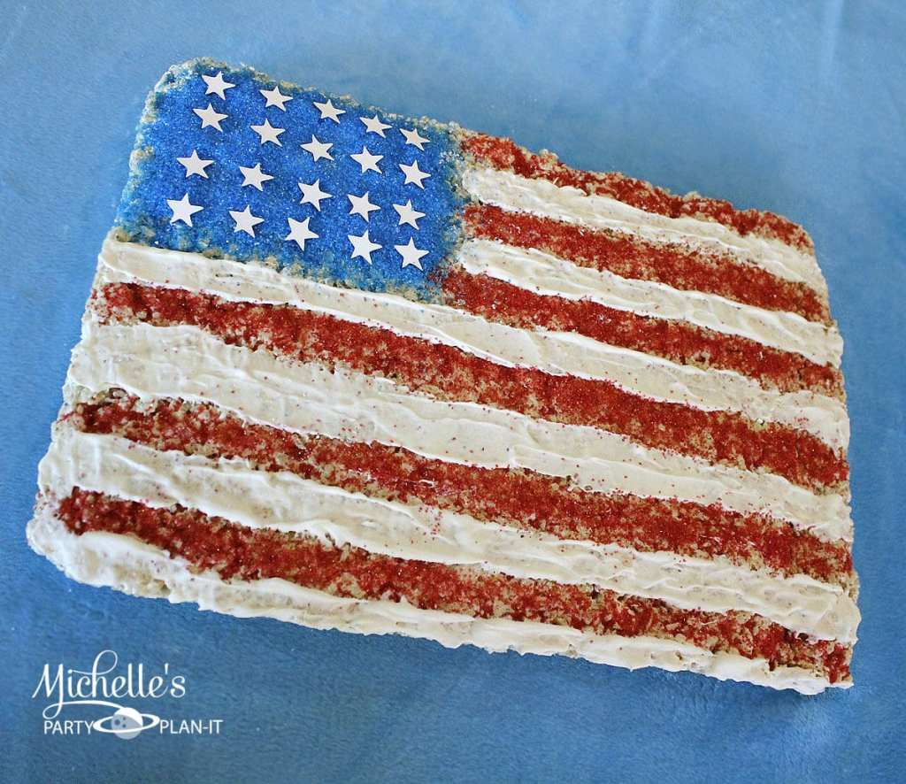 Flag Cereal Treats