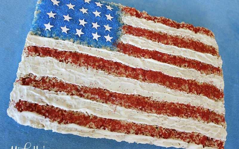American Flag Cereal Treats   Recipe