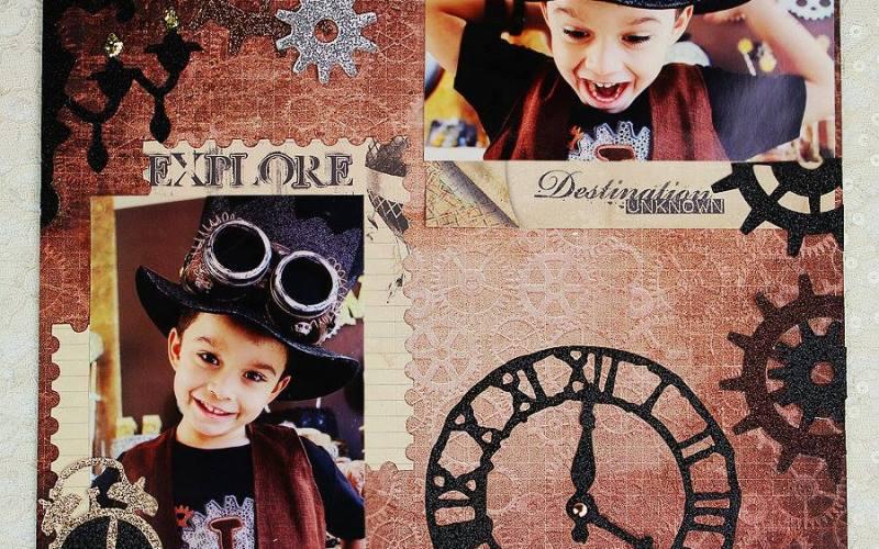 Steampunk Scrapbook Page