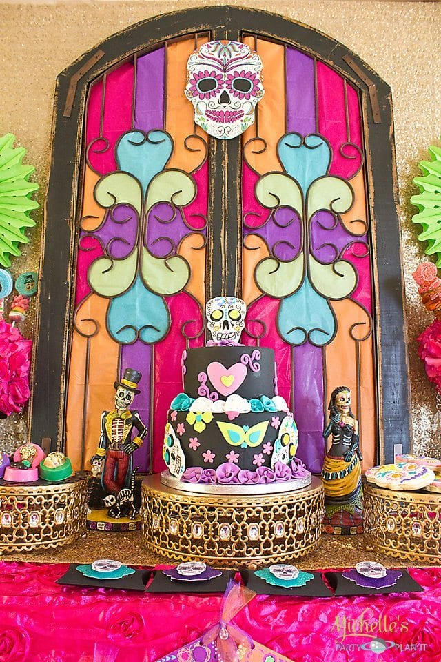 Day of the Dead Party Backdrop