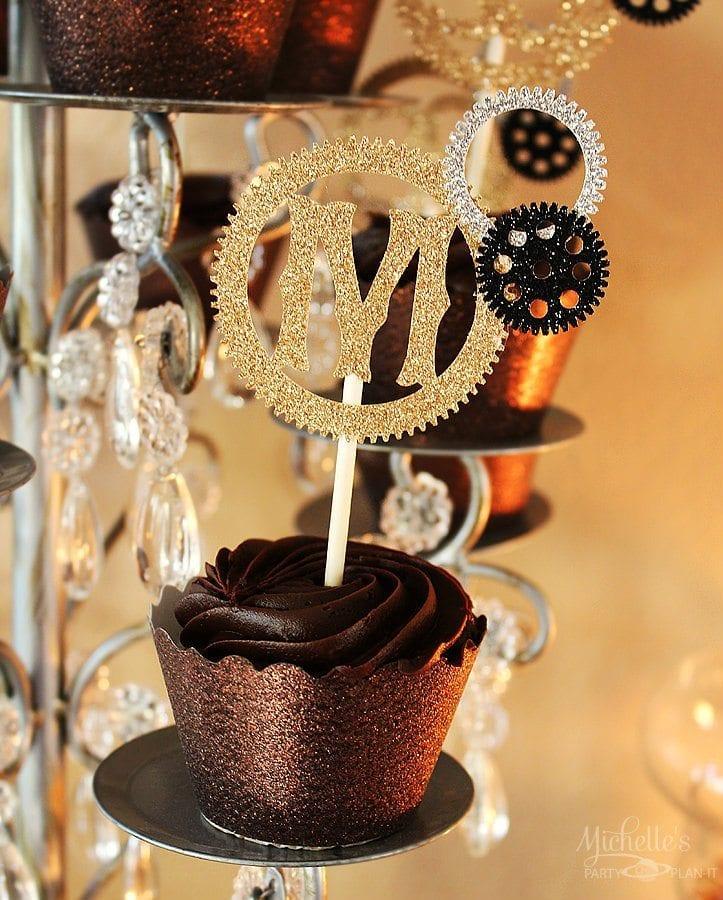 Steampunk Cupcake Topper