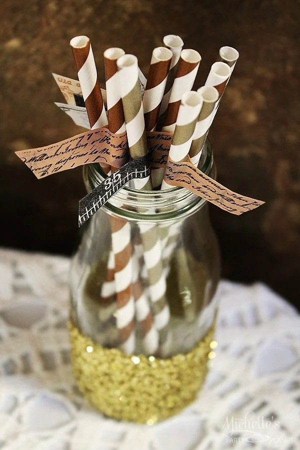 Steampunk Party Straws