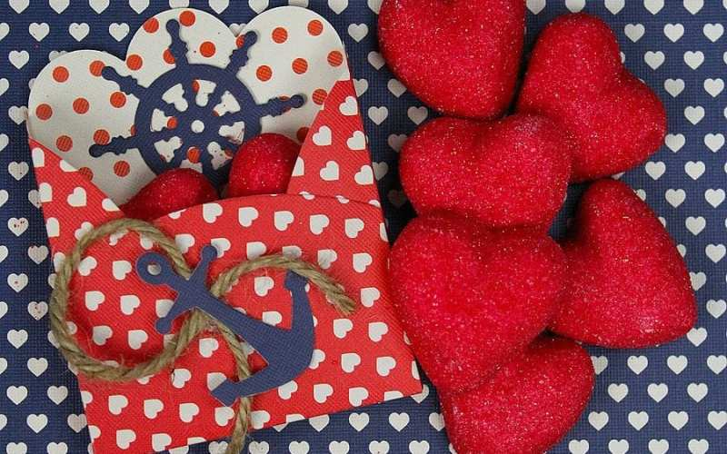 Nautical valentine treat boxes