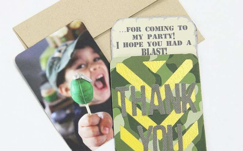 Army Party Thank You Card | Sizzix Tutorial