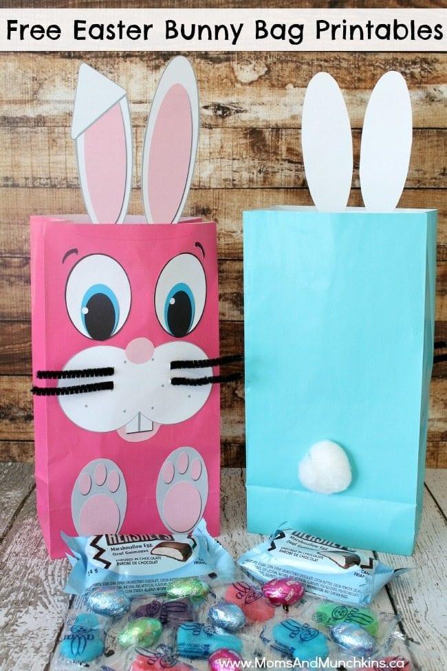 easter bunny bag printables free