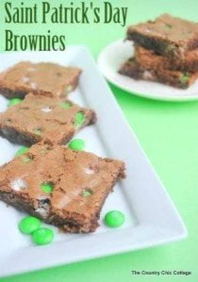 st patricks day brownies