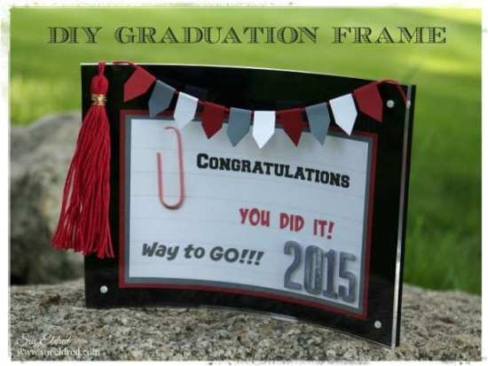 DIY Grad Frame with Tassel