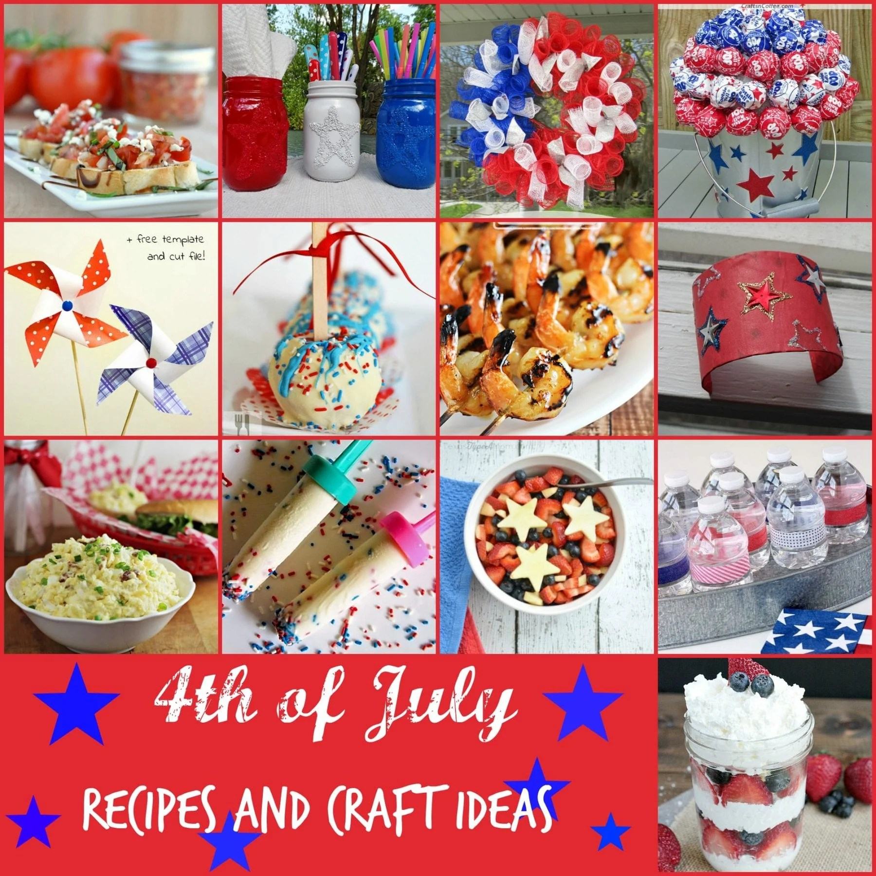 4th Of July Recipes And Craft Ideas Michelle 39 S Party Plan It