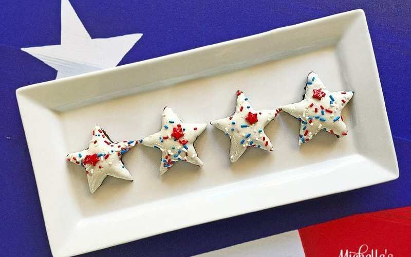 Patriotic marshmallow brownies