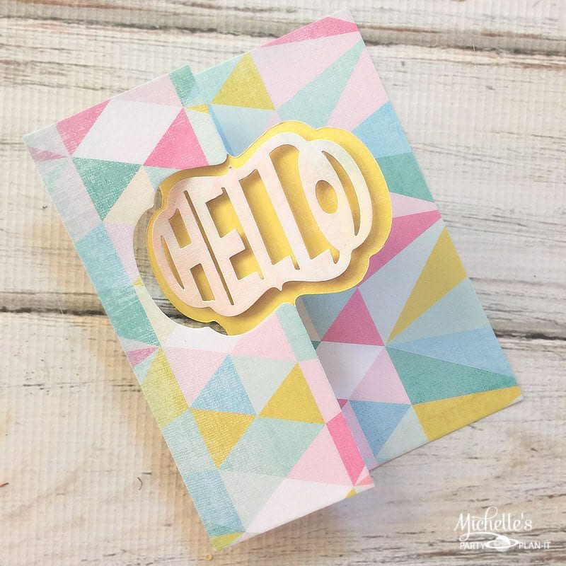 Hello Card Sizzix Tutorial