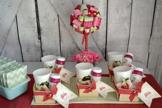 Sweet and Shabby Chic Strawberry Party