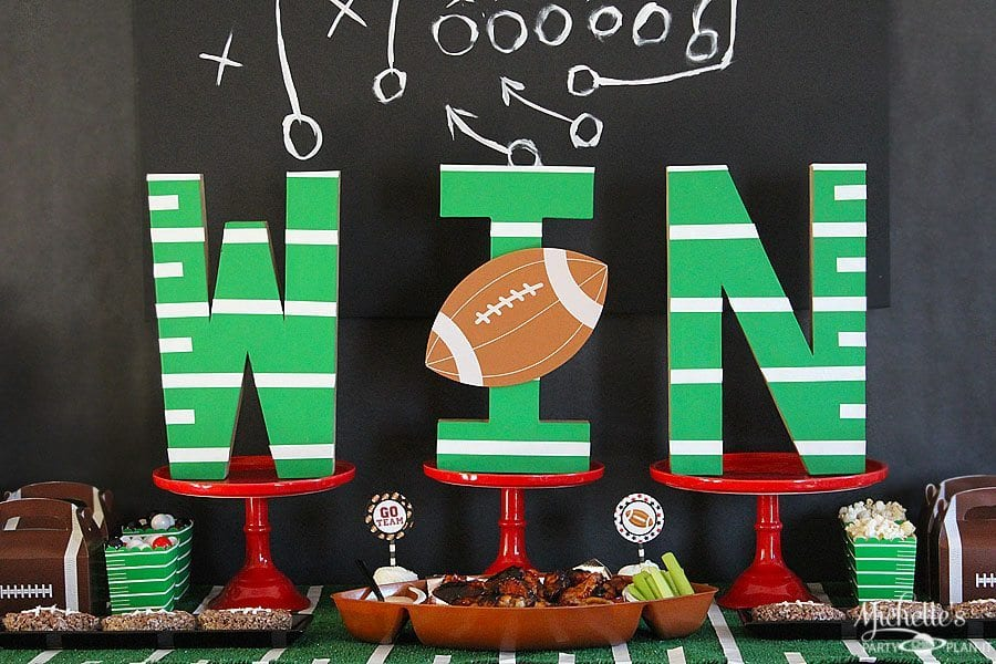football tailgating party ideas decorations for adults fun game rh michellespartyplanit com football birthday party decoration ideas