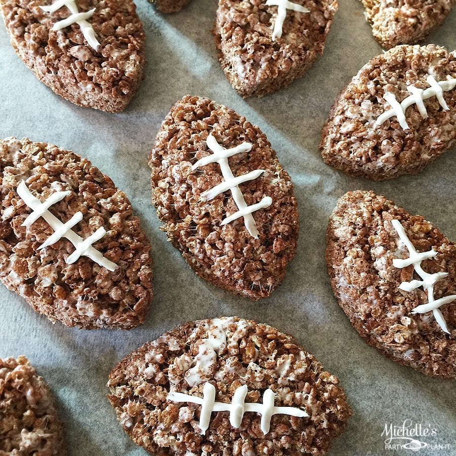 Chocolate Football Cereal Treats Recipe