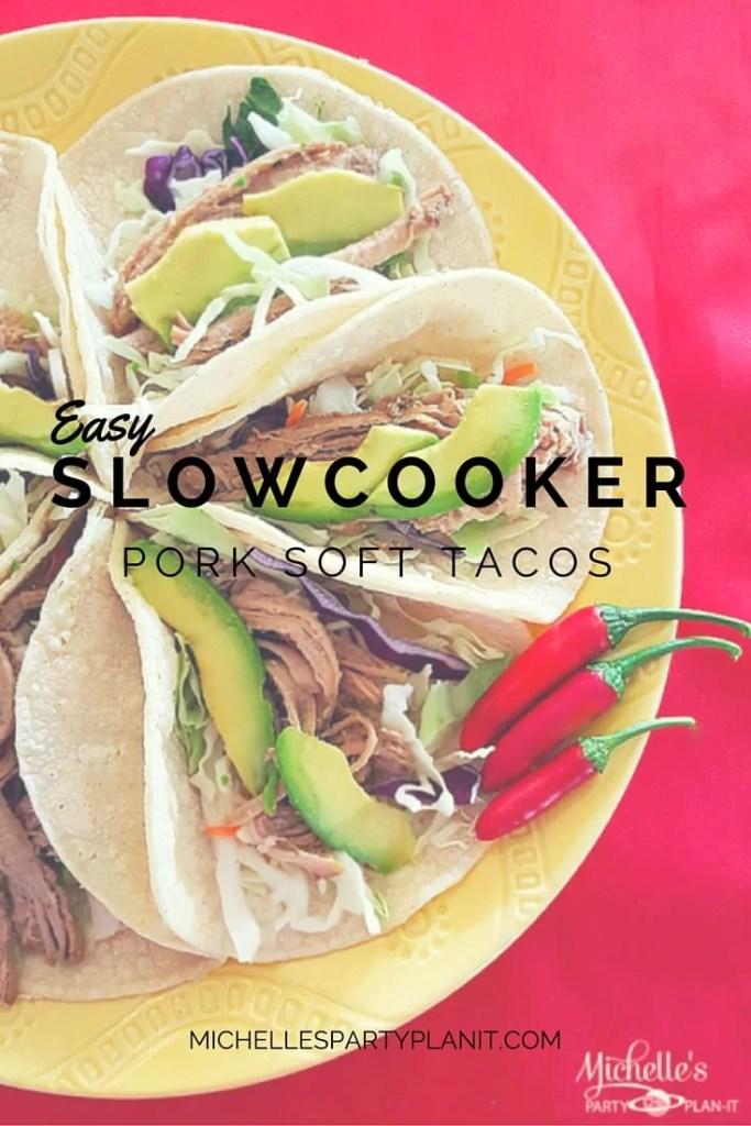 Easy Slow-cooker Pork Soft Tacos