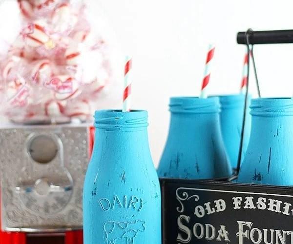 Easy Decorative Retro Milk Glasses | Handmade Holidays Blog Hop