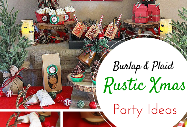 Burlap plaid rustic christmas