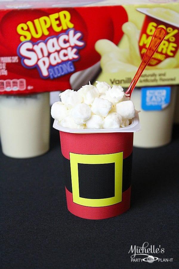 Santa Suit pudding cups