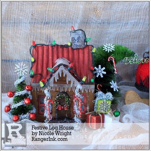 Festive Log House