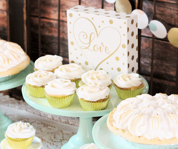 Mint gold baby shower 7