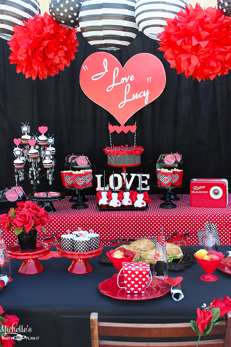 I Love Lucy Party Galentine S Day Michelle S Party Plan It