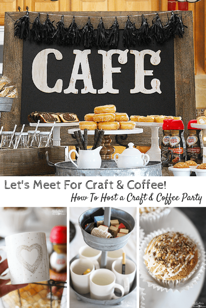 Let's Meet For Craft & Coffee! | How to Host a Cafe Style Coffee Party
