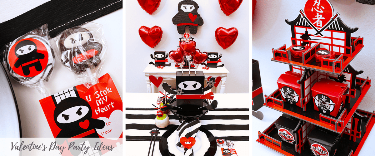 Ninja Valentine's Day Party Ideas
