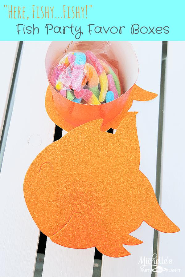 Fish Party Favor Box | Tutorial