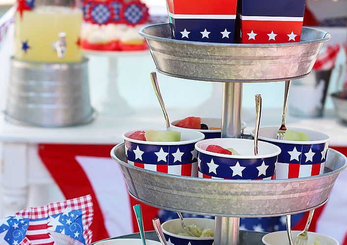 Red, White and Blue BBQ | Patriotic Party Ideas