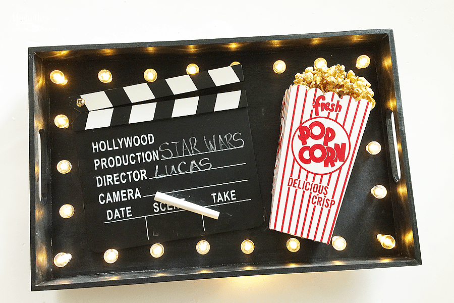 DIY Movie Night Marquee