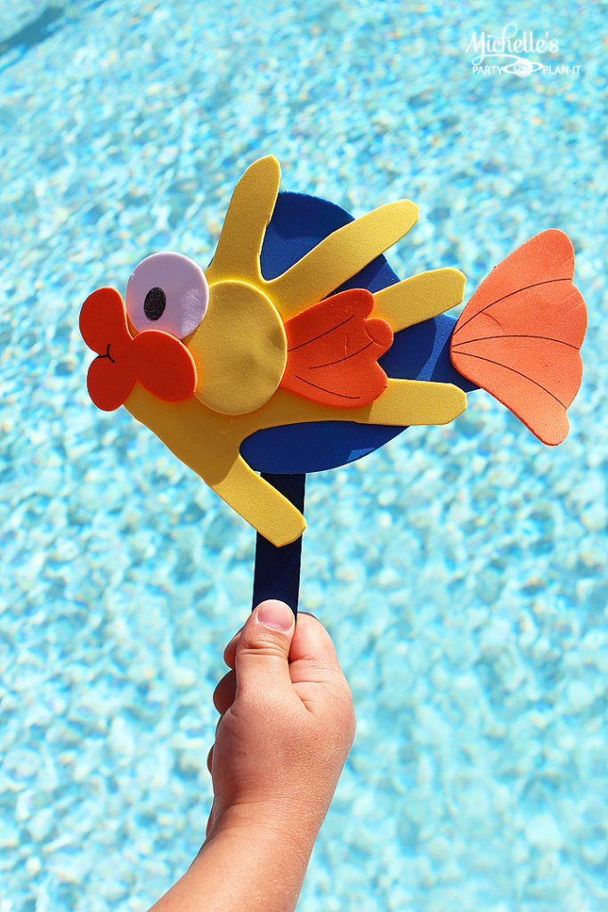 Fish Hand Print Activity for Busy Hands | Summer Activity Idea