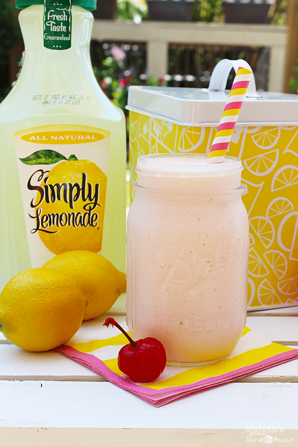 Delicious Frozen Cherry Lemonade