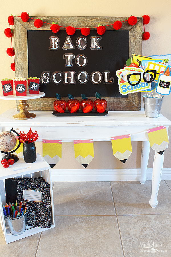 Back To School Snack Table Michelle S Party Plan It