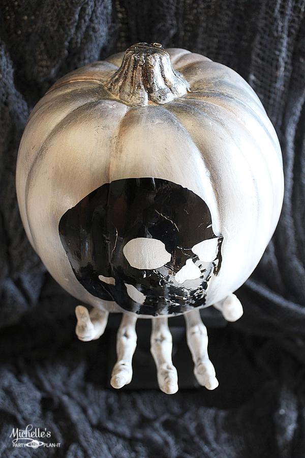 DIY Skull Pumpkin by Michelle Stewart