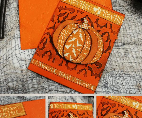 Spooky Pumpkin Halloween Card