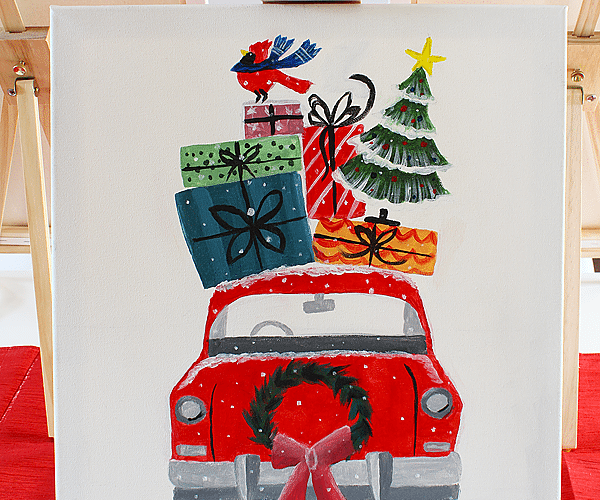 Christmas Painting Party | Social Artworking
