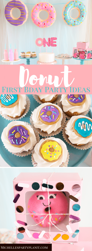 donut themed first birthday party idea
