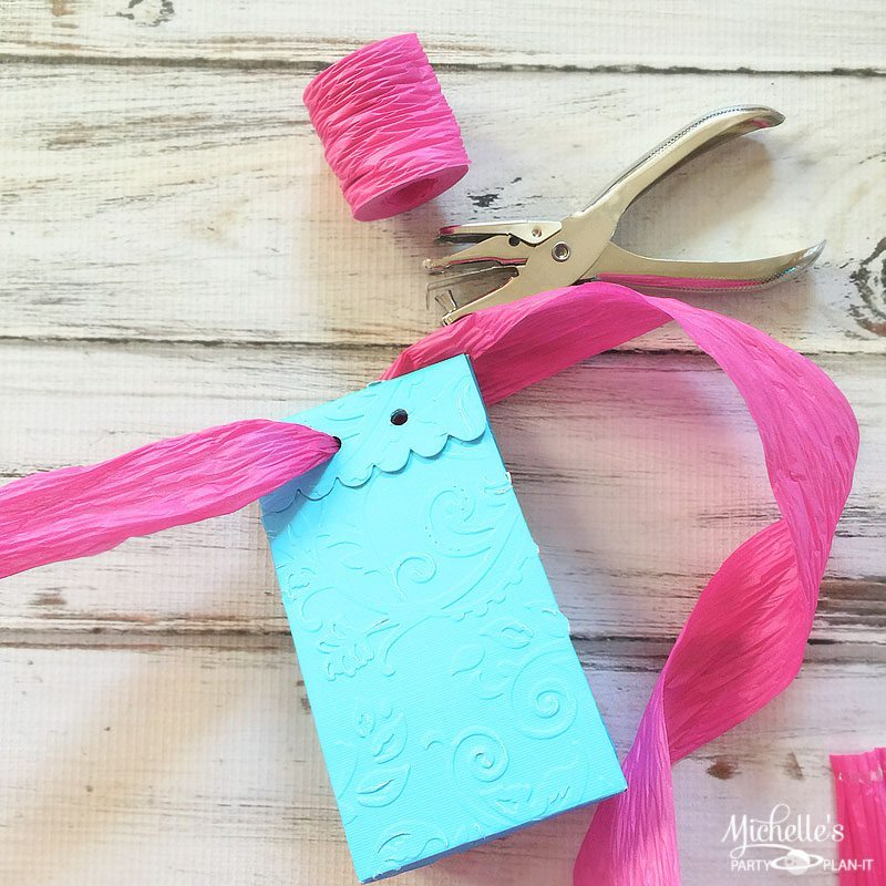 Embossed Party Favor Bags
