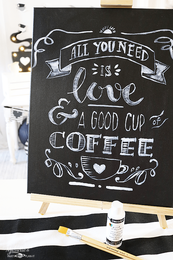 All You Need is Love and Coffee Party Sign