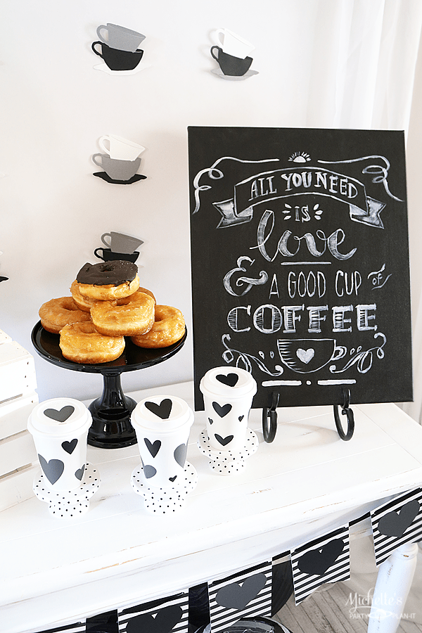 All You Need is Love and Coffee Party Setup