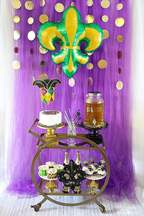Mardi Gras Celebration Ideas A Kid Friendly Bar Cart